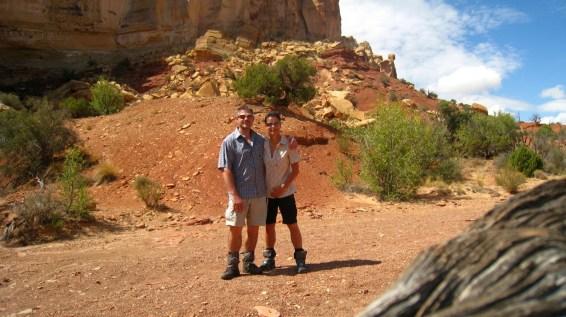 A l'entrée de Little Wild Horse Canyon - Utah