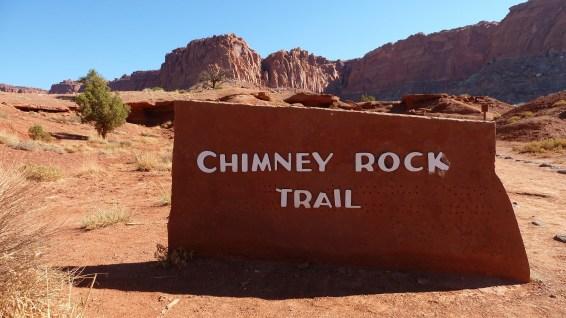 Chimney Rock Trailhead - Capitol Reef National Park - Utah