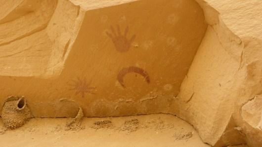 Super-Nova Pictograph - Chaco Canyon - New Mexico