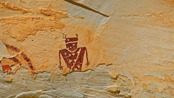 Temple Mountain Pictograph Panel - Utah
