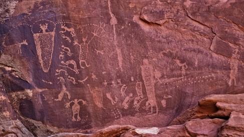 Kokopelli Panel - Seven Mile Canyon - Moab - Utah