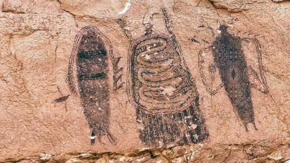 Intestine Man Panel - Canyonlands - Utah