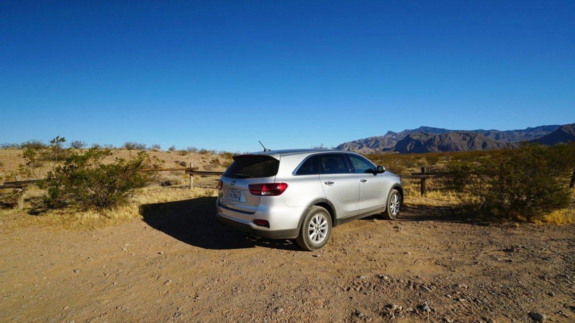 Falling Man Parking - Gold Butte National Monument - Nevada - États-Unis