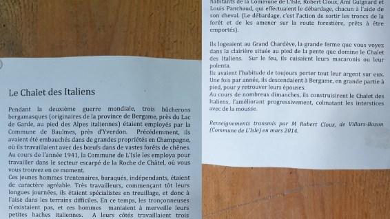 Chalet des Italienrs - L'Isle - Vaud - Suisse