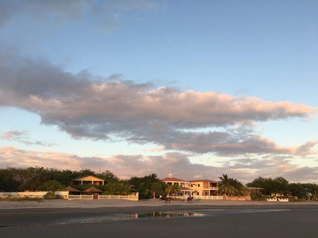 Playa guasacate sunset nicaragua