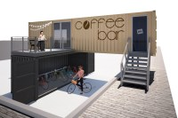 SITE OFFICE / COFFEE SHOP WITH BICYCLE GARAGE, CONCEPT ...