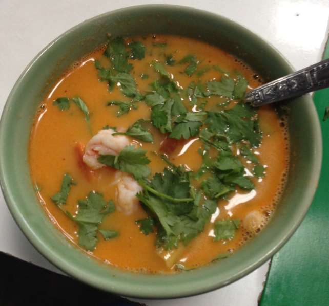 """Tom Yum Soup that we made in our class - """"Quick Trip to Chiang Mai Thailand"""" - Two Traveling Texans"""