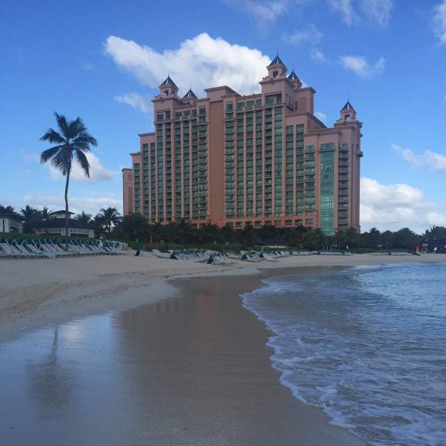 "The beach by the Cove before most people woke up - ""The Secrets of Atlantis in the Bahamas"" - Two Traveling Texans"