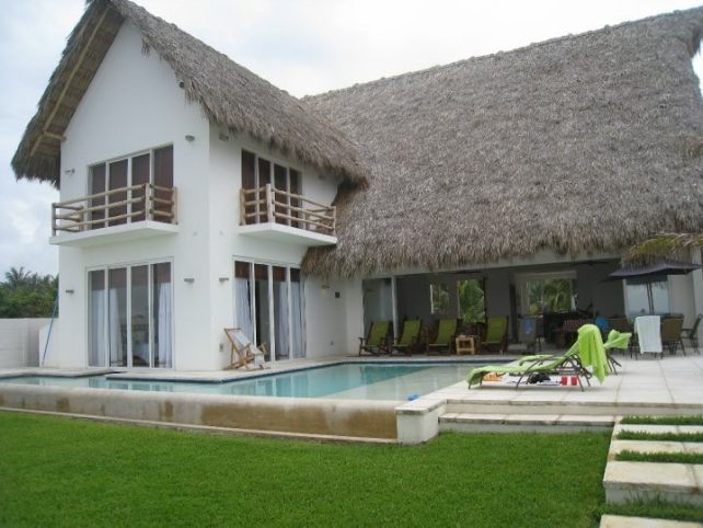 Our house for the weekend, with our own private pool
