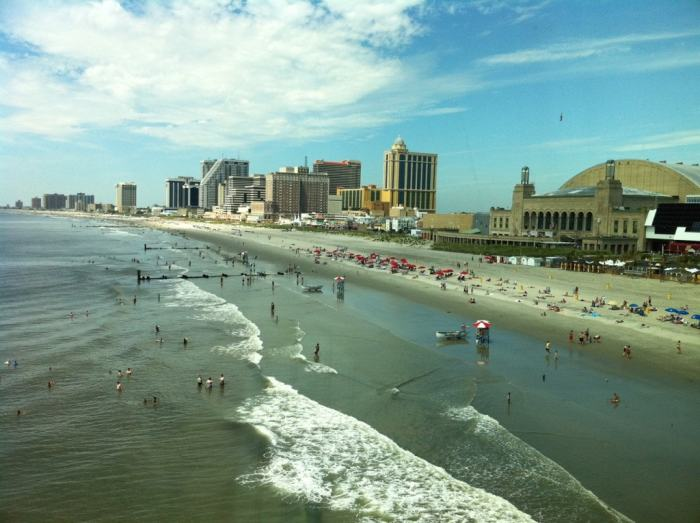 Atlantic City Beach and Hotels on the Boardwalk