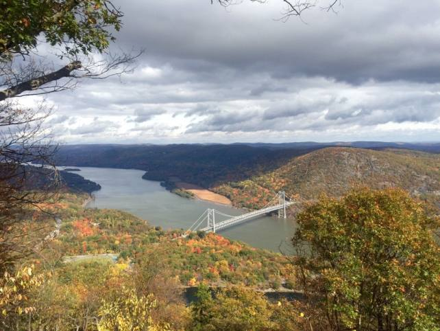 View of the Bear Mountain Bridge from the Scenic Drive