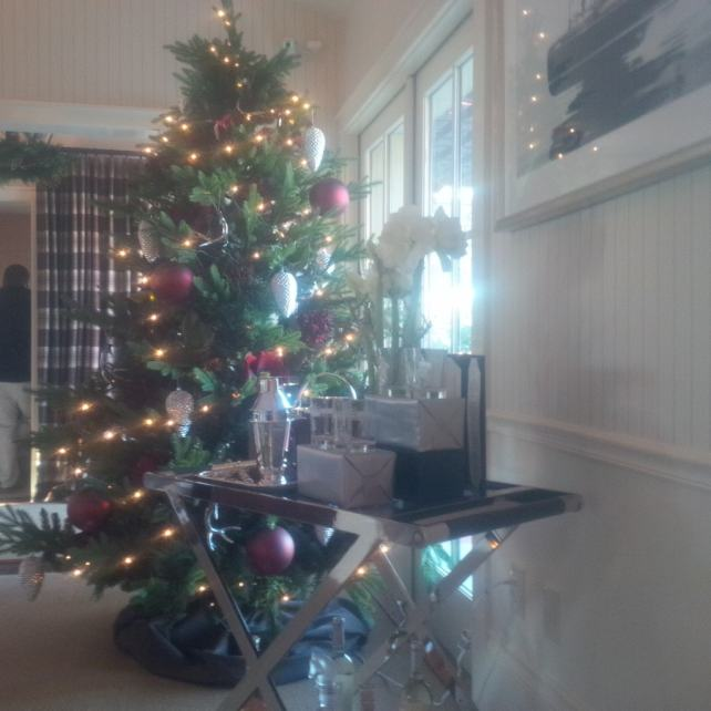"""Trident is decorated for Christmas thanks to Ralph Lauren Home - """"10 Wine Tasting Tips and Tricks for Napa Valley"""" - Two Traveling Texans"""