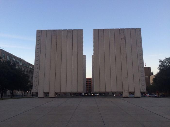 The JFK Memorial in downtown Dallas.