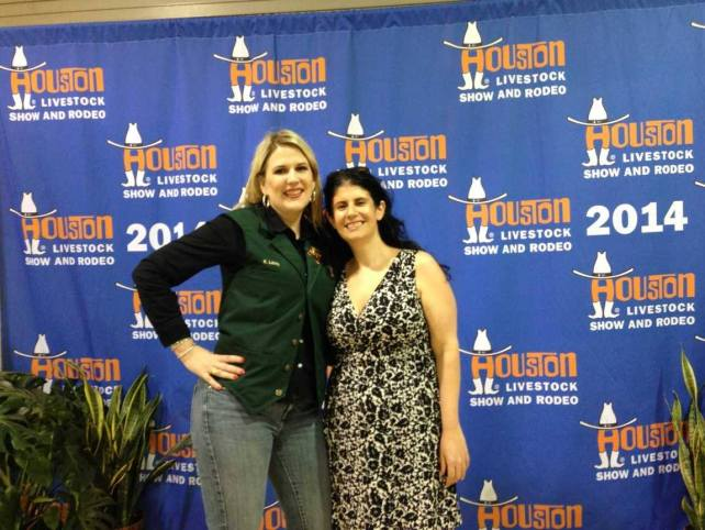 Katherine and Anisa at the Houston Livestock Show and Rodeo in 2014