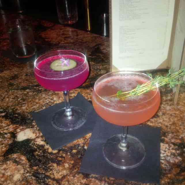 Our fancy drinks at Husk