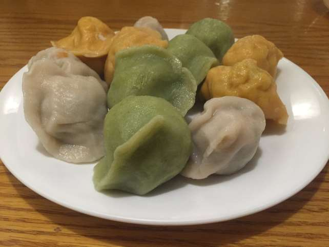 "The dumpling sampler at Mandoo Bar in K town. - ""Koreatown: A Little Seoul in NYC"" - Two Traveling Texans"