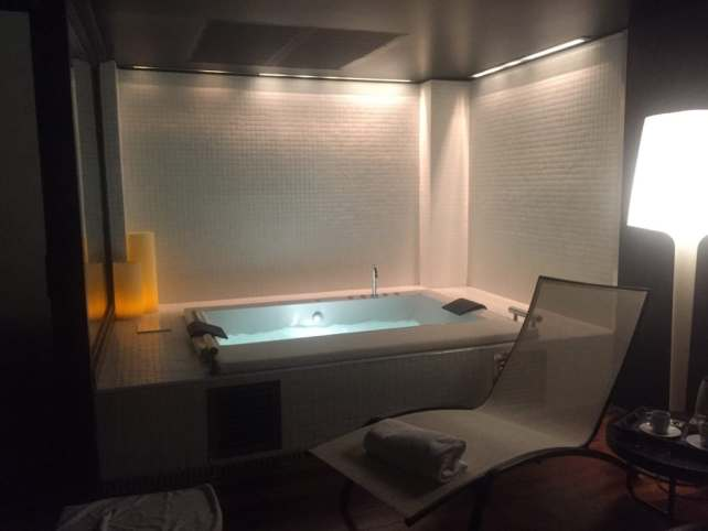 "The aqua wellness room was so peaceful and relaxing. - ""One Day in Bilbao"" - Two Traveling Texans"