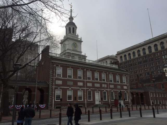Independence Hall in Philadelphia looks just like I would have pictured it back in Revolutionary time.
