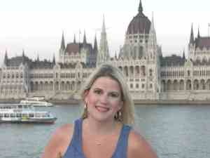 Katherine along the Danube in Budapest
