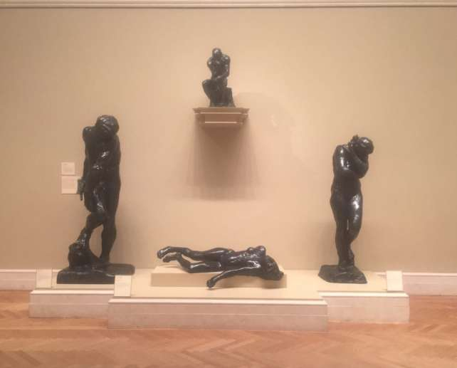"A few of the Rodin pieces at the Met, including a small version of the Thinker - ""Rodin Around the World"" - Two Traveling Texans"