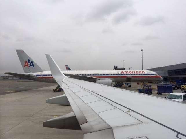 Planes parked at the gates at JFK