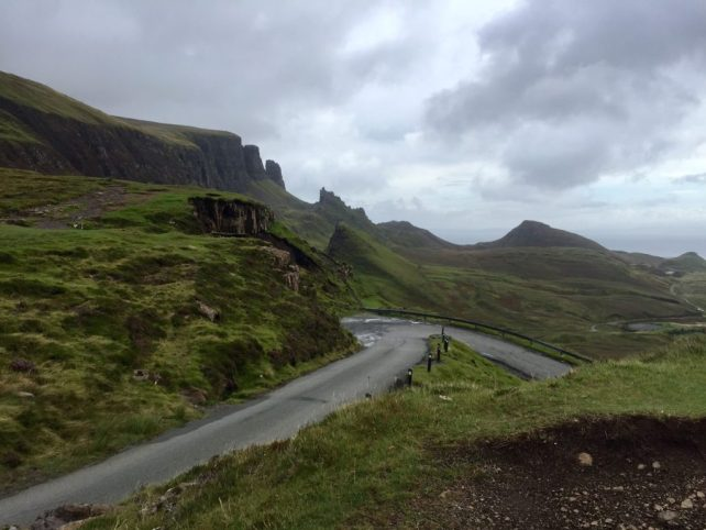 "One of the many curvy narrow two-way roads on Isle of Skye. ""UK vs US: Road Trip Comparison"" - Two Traveling Texans"