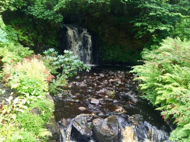 "One of the waterfalls in the water garden at Dunvegan Castle. - ""Dunvegan Castle and the Fairy Flag"" - Two Traveling Texans"