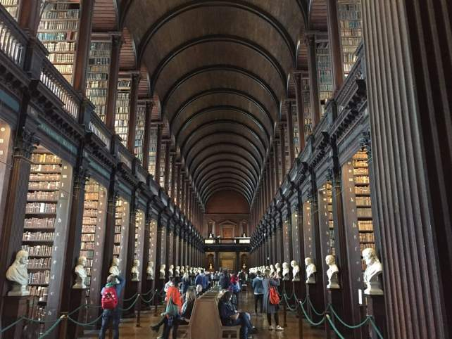 """The Long Room......just look at all those books! - """"The Book of Kells - A Medieval Treasure"""" - Two Traveling Texans"""
