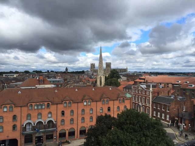 """The view from Clifford's Tower is spectacular. You can see York Minster in the distance. - """"York: Five Must See Historic Sites"""" - Two Traveling Texans"""