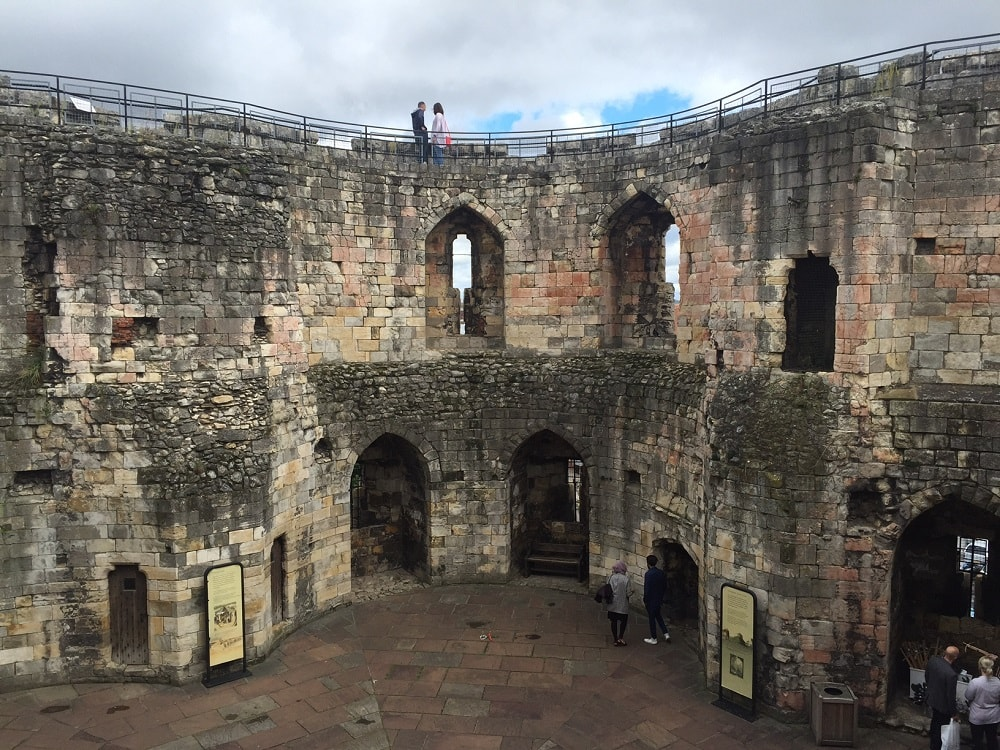 "Inside Clifford's Tower - ""York: Five Must See Historic Sites"" - Two Traveling Texans"