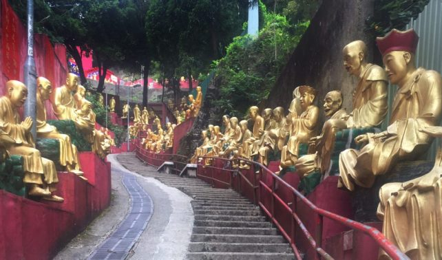 """A good part of the way was climbing steps! - - """"The Truth about the 10000 Buddhas Monastery"""" - Two Traveling Texans"""