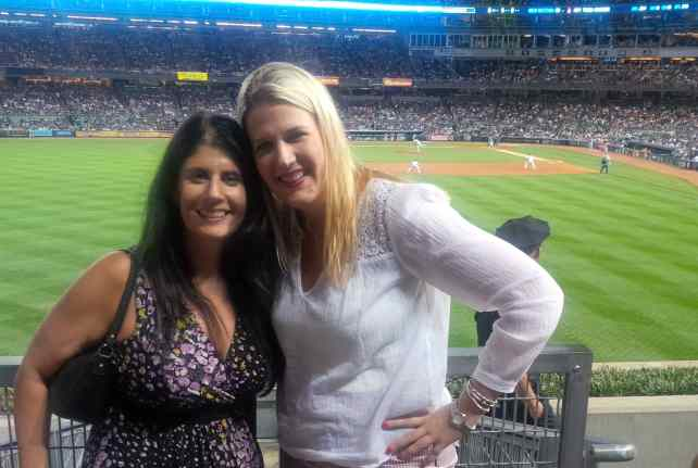 "Anisa and Katherine at Yankees Stadium - ""Our 2017 Travel Wish List"" - Two Traveling Texans"