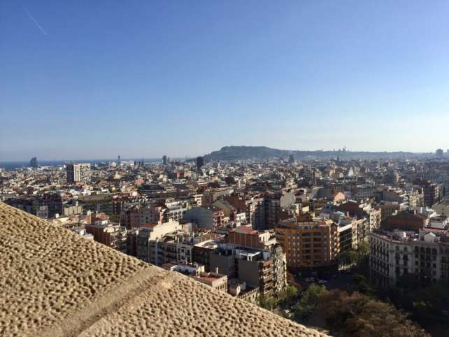 """The view from the Passion towers of La Sagrada Familia (partially obstructed!). - """"Why I Fell in Love With Gaudi in Barcelona"""""""