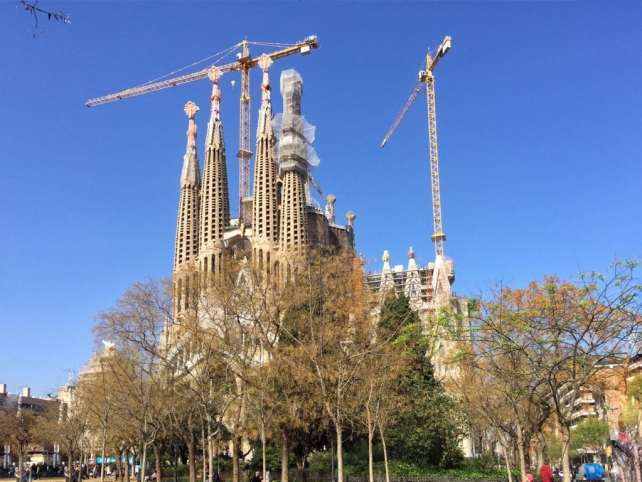 """La Sagrada Familia under construction for the last 130 years! - """"Why I Fell in Love With Gaudi in Barcelona"""" - Two Traveling Texans"""