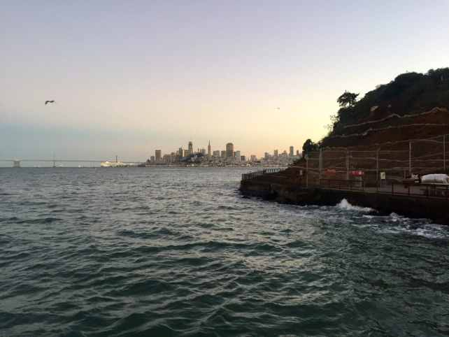 "You get a lovely view of San Francisco and the Bay Bridge as you dock at Alcatraz. - ""Spend One Night at Alcatraz"" - Two Traveling Texans"