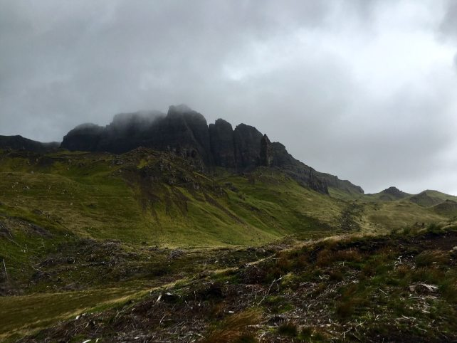 "Even in bad weather, Old Man of Storr is a beautiful place to hike. - ""Old Man of Storr: Hiking in the Clouds"" - Two Traveling Texans"