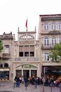 "You can't miss Livraria Lello - The outside is unique and there was a huge line. - ""Three Harry Potter Porto Sites to See"" - Two Traveling Texans"