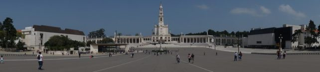 """You can get an idea of the size of the plaza from this photo. It's huge! The church is the Basilica of Our Lady of the Rosary. """"Fatima Pilgrimage: 100 Years and Counting"""" - Two Traveling Texans"""