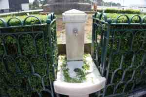 """The fountain with the holy water - some say it cures diseases. - """"Fatima Pilgrimage: 100 Years and Counting"""" - Two Traveling Texans"""