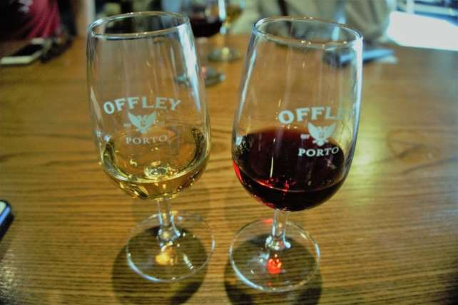 """The two ports from our Offley port tasting. - """"Port House Visits and Cable Cars"""" - Two Traveling Texans"""