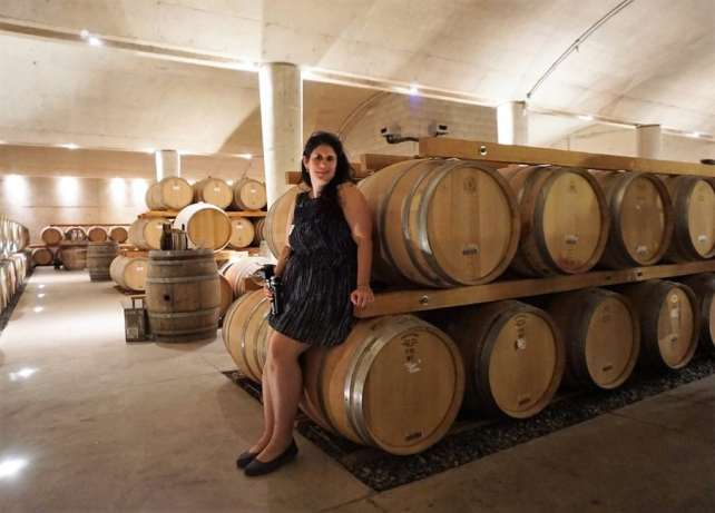 "Anisa with more wine than she can drink! - ""Discovering Wineries in Niagara on the Lake Canada"" - Two Traveling Texans"