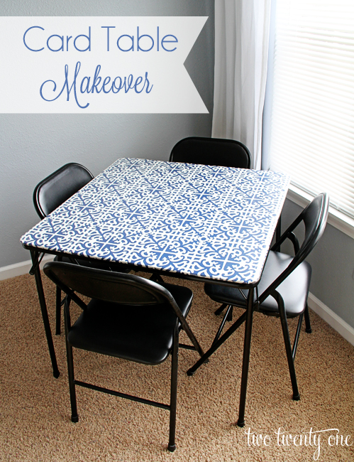 plastic kids table and chairs best lift chair card makeover - two twenty one