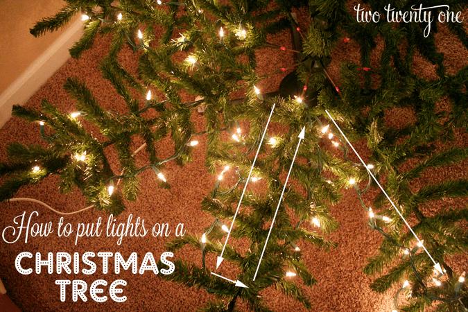 Best Way Put Lights Christmas Tree