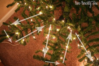 how to put lights on christmas tree step 2