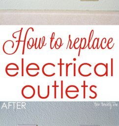 get rid of those outdated almond colored outlets how to replace electrical outlets  [ 650 x 1288 Pixel ]