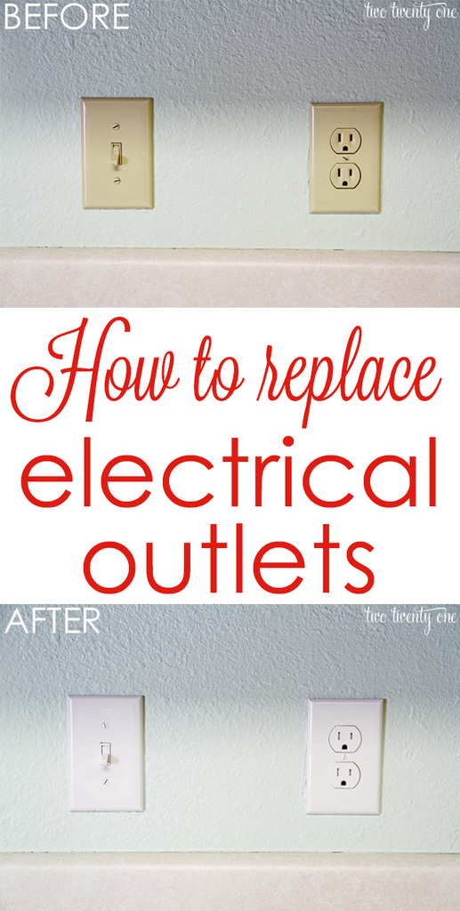 hight resolution of get rid of those outdated almond colored outlets how to replace electrical outlets