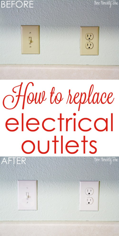 small resolution of get rid of those outdated almond colored outlets how to replace electrical outlets