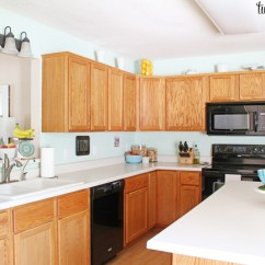 Oak Cabinets Kitchen Ideas For Kitchens Cabinet Makeover Reveal Honey Island