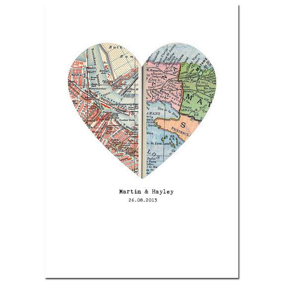 custom map print by paper arcadia