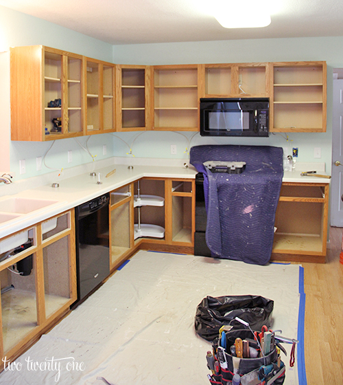 kitchen cabinet reface best rated cabinets makeover reveal refacing